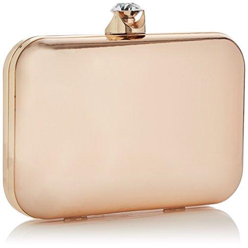 Swanky Swans - Ari Metallic Patent Box Clutch, Pochette da giorno Donna Oro  (Champ ...