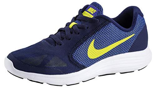 NIKE INTERNATIONAL Revolution 3 Größe 35.5 blau-gelb (Nike Jungen Turnschuhe Größe 3)