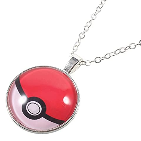 Collier Chaine et pendentif Pokemon GO Pokeball