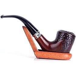Qwert Tuyau de Marteau courbé Durable sculpté Porte-Cigarette filtré, résine Freestyle - Fait Main