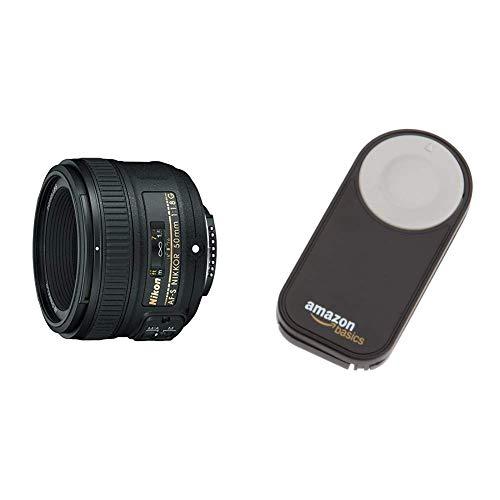Nikon AF-S NIKKOR 50 mm 1:1,8G Objektiv (58mm Filtergewinde) & AmazonBasics IR-Fernauslöser für Nikon SLR-Digitalkameras