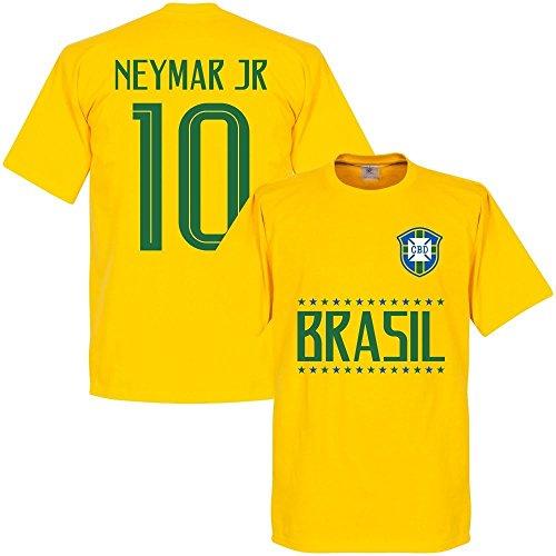 Brasilien Neymar Jr 10 Team T-Shirt Boys - Gelb - 10 Jahre