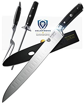 DALSTRONG Carving Knife Set - Gladiator Series - German HC Steel - 4pc Hollow Ground