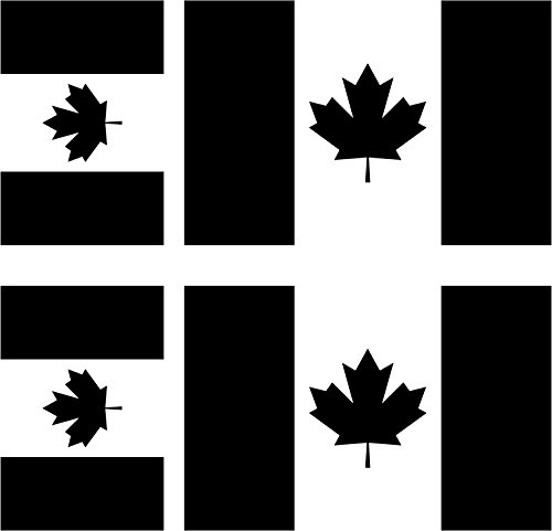 Sticker Auto Moto Koffer Laptop Flagge Kanada Black & White (3x5 Kanada Flagge)