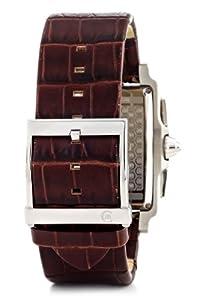 Cerruti CRB001A213G - Reloj cronógrafo de caballero de cuarzo con correa de piel marrón (cronómetro) - sumergible a 50 metros de Cerruti