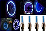 #1: B TO B TRADERS Universal Blue Bike Tyre Led Wheel Light With Motion Sensor - Set Of 4 For All Car