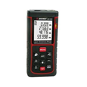 Decent Gadget® Télémètre laser Avec niveau à bulle Télémètre Range Finder Ruban à mesurer 60m(196ft) Laser Distance Meter