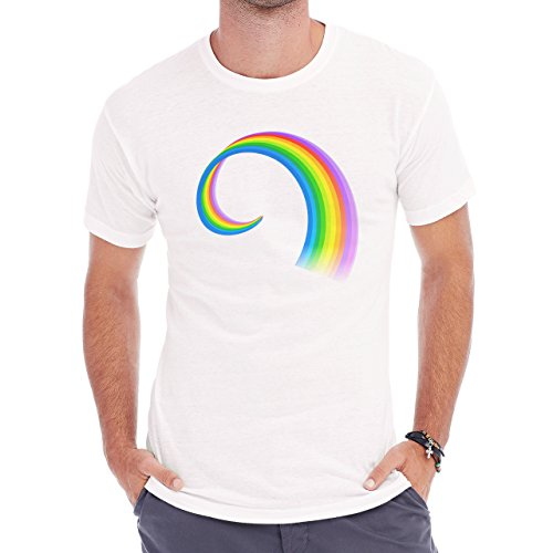 Rainbow Circles Double Colorful Beautiful Herren T-Shirt Weiß