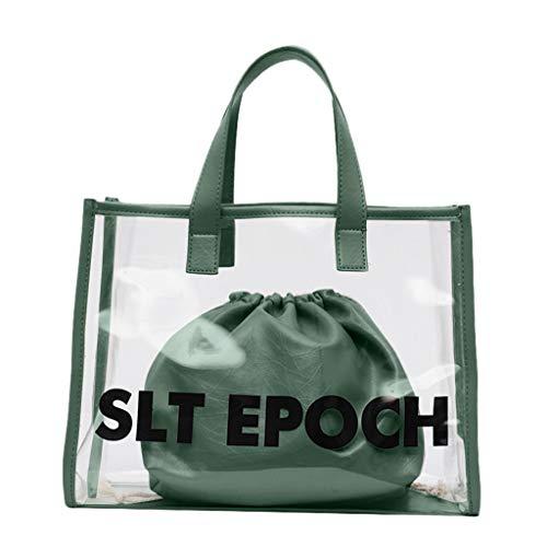 Mitlfuny handbemalte Ledertasche, Schultertasche, Geschenk, Handgefertigte Tasche,Mode damen große kapazität transparent brief umhängetasche handtasche + kupplung