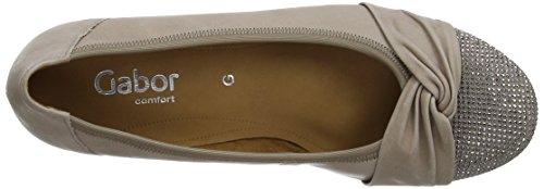Gabor 22.626.17 Damen Geschlossen Ballerinas Beige Leather