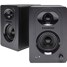 SAMSON Media One M30 Active Monitor Speaker Pair (Multimedia Speaker System, 20 W, Bass Boost, 50 Hz-20 kHz, 85 dB, 3 Inch Polypropylene Woofer) Black