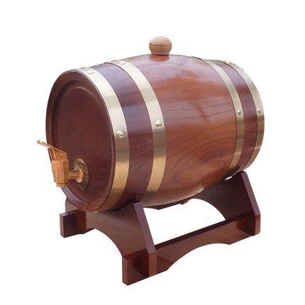 Nota:Este barril de roble está forrado con aluminio, a fin de aumentar el envejecimiento y el aroma del vino. Te proporcionaremos una pequeña cantidad de trozos de roble, no los pongas en el barril durante mucho tiempo, tienes que reemplazar el trozo...