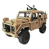 Voiture Tout-Terrain RC, Jeep décapotable 4x4 2.4G à 4 Roues motrices - Voiture Tout-Terrain à 4 Roues motrices - Jeep Militaire - Voiture télécommandée à Grande Vitesse