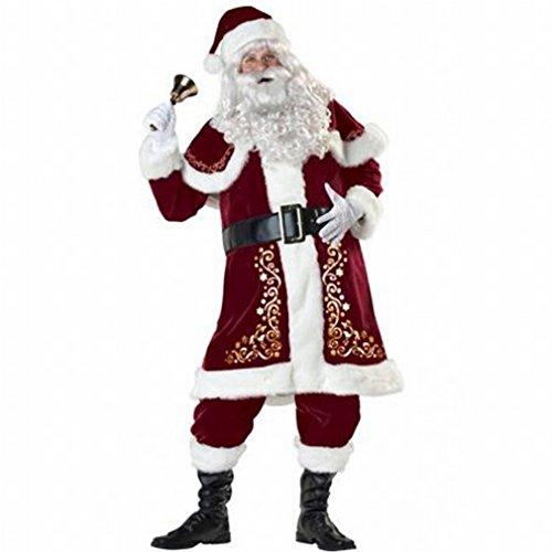 smann Kostüm Cosplay Spiel Cos Erwachsene Weihnachtsfeier Zeigen Uniform,Rot (Männer Weihnachten Kostüme)