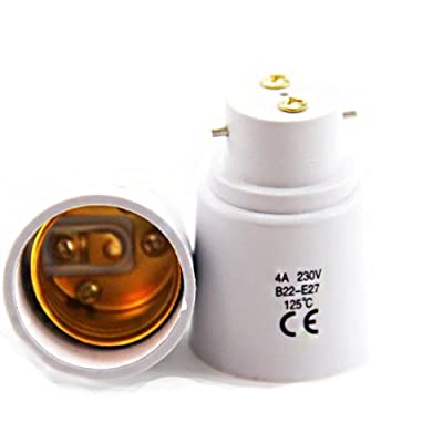2 Pack - Socket Adapter B22 to E27 - Standards CE RoHS