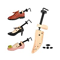 Two-Way Wooden Shoe Stretcher - Adjustable Russian Spruce Shoe Trees - Shoe Stretcher with Shoe Horn for Men and Women(1pc)