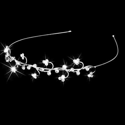 Gazechimp Kinder Blumenmädchen Kristall Rhinestone Stirnband Haarband