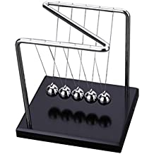 Dragon868 Solid Wood Physics Science Accessory Desk Toy Newton's Cradle Steel Balance Balls