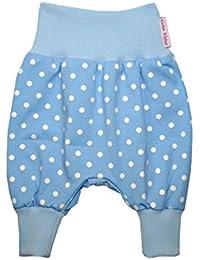 """Kleine Könige 'Baby Pantalon Harem pour bébé Pantalon """"à pois, bBleu clairciel"""