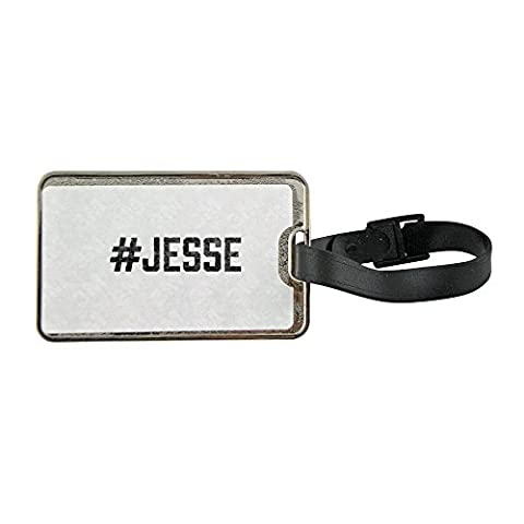 Metal luggage tag with #JESSE