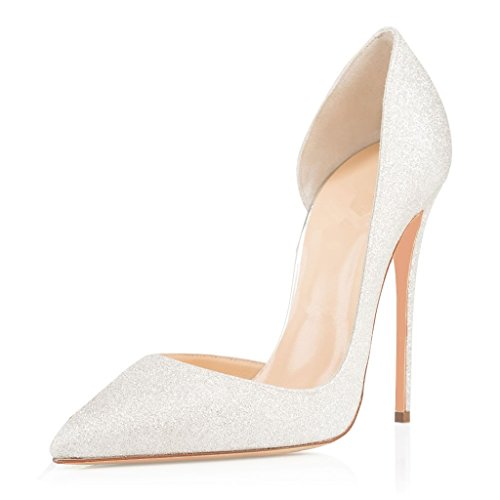 EDEFS - Escarpins Femmes - Chaussures Stilettos - Talon Aiguille - Grande Taille - Soiree Mariage - Taille 35-45 Glitter
