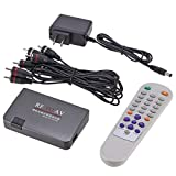Nowakk Mini Ricevitore RF-AV analogico TV Portatile Convertitore da RF a AV Modulatore Adattatore Porta USB con Cavo Video