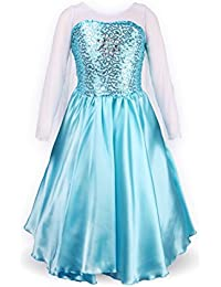 ReliBeauty Petites Filles Princesse Robe Manches Longues Robe Costume