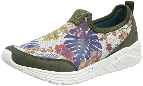 FLY London Damen Sati949fly Sneakers Mehrfarbig (taupe/floral 004)