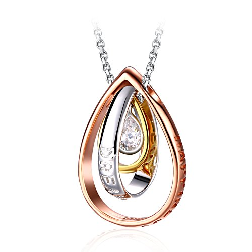 Collier, J.Rosée Argent 925 Bijoux Femme/Fille 5A Zirconium...