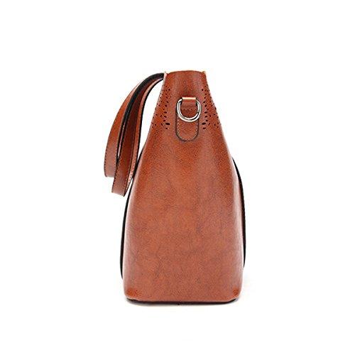 Mode Öl Wachs Pu Leder Schultertasche Für Frauen Dame Elegante Handtasche Satchel Tote Crossbaoy Tasche Red