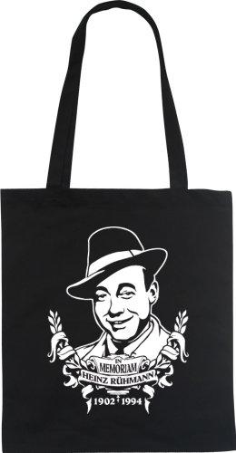 In Memoriam HEINZ RUEHMANN Designer Fun Beutel tote bag Baumwolltasche WIZUALS, schwarzweiss (Richter Stuhl)