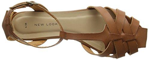 New Look - Karlotta, Strap alla caviglia Donna Brown (Tan)