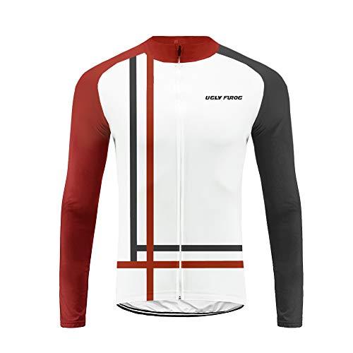 Uglyfrog 2019 Nuovo Abbigliamento Sportivo da Ciclismo, Maglia a Maniche Lunghe, Invernale Termica ZRMX09