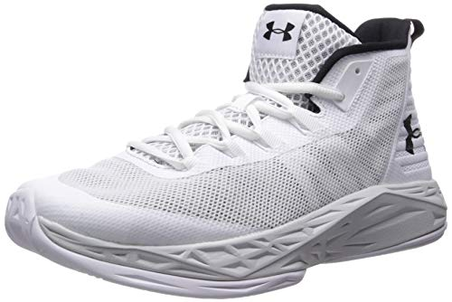 Under Armour Herren Jet Mid Basketballschuhe, Weiß (White/Elemental/Black 105), 44 EU