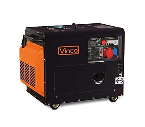 Generatore corrente 60230 VINCO diesel 5,5KW SILENZIATO usato  Spedito ovunque in Italia