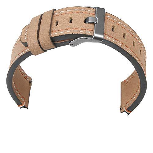 TianranRT Neu Luxus Leder Band Armband Watch Band Für Samsung Galaxie Watch 46mm (Khaki) Leder Ipod Armband