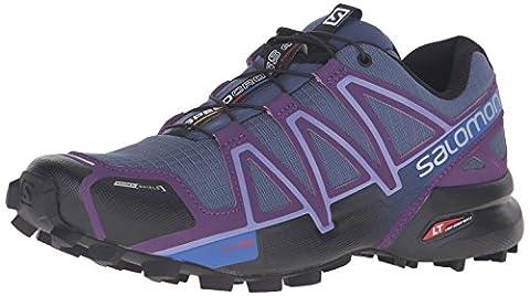 Salomon Speedcross 4 Cs W, Chaussures de Trail Femme, Bleu (Slateblue/Cosmic Purple/Black), 39 1/3 EU