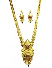Shingar Jewellery Ksvk Jewels Antique Gold Plated Necklace Set (Bandhel) For Women (8908-g-long)