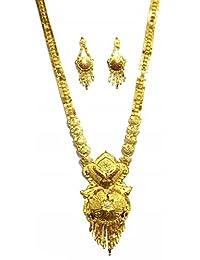 Shingar Jewellery Ksvk Jewels Antique Gold Plated Necklace Set (Bandhel) For Women (8908-g-long)