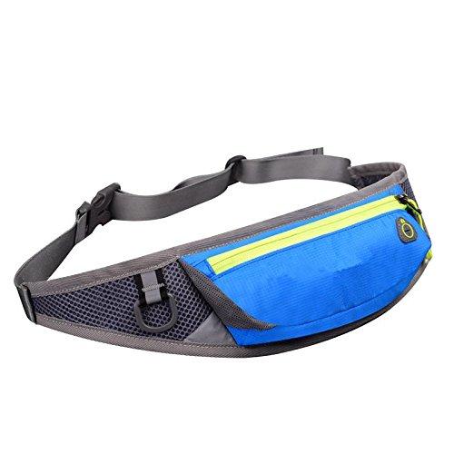 &ZHOU Männer und Frauen, Multifunktionsgeldbeutel Sports Rucksack-Handtasche Großvolumige Tasche Umhängetasche Rucksack Messenger Art und Weise Kurier Blue