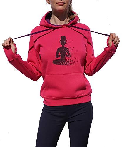 03c379f5b9c KrisTalas Sudadera con Capucha Mujer Om Clothing Yoga Clothing Meditation  Shirt Spiritual Art Mandala Chakras Lotus