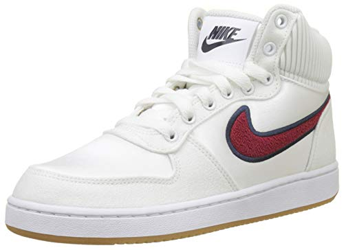 Nike Ebernon Mid Prem, Scarpe da Basket Donna, Multicolore (White/Red Crush-Blackened Blue 100),...