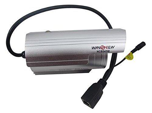 Built-in Wireless-Modul-Weitwinkel (70 °) Objektiv 4mm 25m Nachtsicht wasserdicht Wansview NCB543W Outdoor IP-Kamera mit kostenlosen DDNS, Alarm-Funktion, Motion Detection, Videoaufzeichnung, 640 * 480 (VGA) / 320 * 240 (QVGA) / 160 * 120 (QQVGA) (Silber)