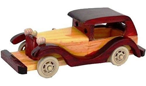 The Hue Cottage toit voiture jouet style vintage bois indien main brun intérieur de vitrine décoration de maison