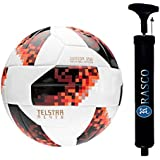 RASCO Combo TELSTAR Football, Red with Air Pump