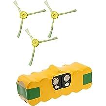 Batería 4500mAh extra Duración + Kit Cepillos laterales para iRobot Roomba serie 700701702703704705706707708709710711712713714715716717718719720721722723724725726727728729730731732733734735736737738739740741742743744745746747748749750751752753754755756757758759760761762763764765766767768769770771772773774775776777778779780781782783784785786787788789790791792793794795796797798799garantía JSD