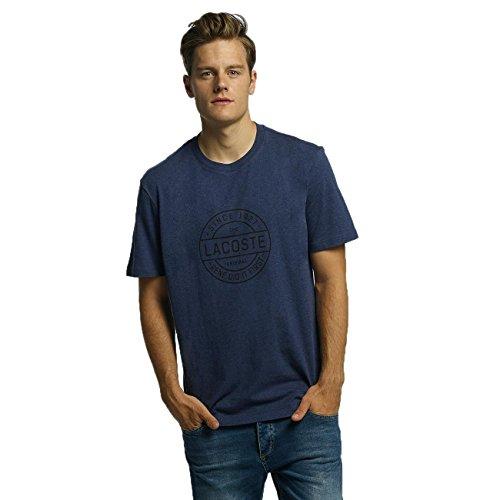 Lacoste Herren Oberteile/T-Shirt Original Blau M (Baumwolle Lacoste Herren T-shirts)
