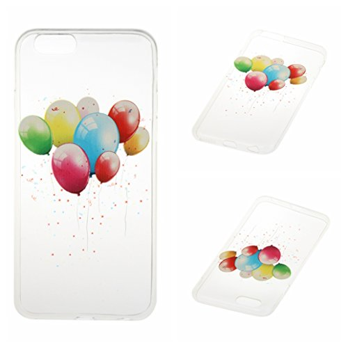 Voguecase Pour Apple iPhone 6 Plus/6S Plus 5,5, TPU avec Absorption de Choc, Etui Silicone Souple Transparent, Légère / Ajustement Parfait Coque Shell Housse Cover pour iPhone 6 Plus/6S Plus 5,5 (papi ballons colorés