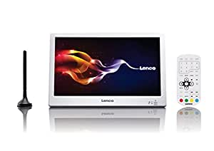 Lenco TFT-1028 10-Zoll LED-TV mit DVB-T2 - USB - Akku - Weiß
