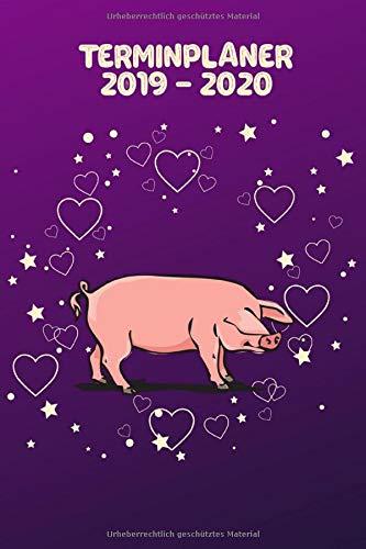 Terminplaner 2019 - 2020: Wochenplaner Taschenkalender Terminkalender und Kalender 2019 2020 Wochenplaner und Monatsplaner von Oktober 2019 bis Dezember 2020 Schwein Liebesherzen (Schwein Terminkalender)